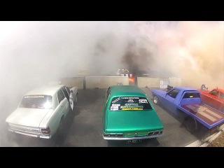 Мировой рекорд по сжиганию шин